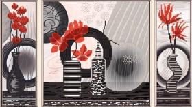 Рисунок на ткани  для вышивки бисером Красные цветы Новая Слобода (Нова слобода) В32005 - 157.00грн.