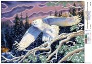 Рисунок на атласе для вышивки бисером Белая сова