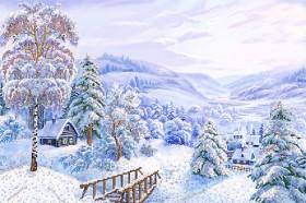 Набор для вышивки бисером Зимняя сказка, , 381.00грн., НКП-2-002, Марiчка (Маричка), Большие наборы