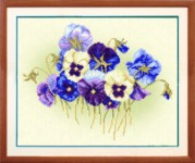 Рисунок на ткани для вышивки бисером Цветочки