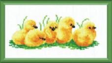 Набор для вышивки крестом Цыплятки Чарiвна мить (Чаривна мить) №317