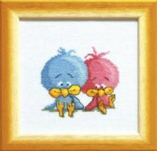 Набор для вышивки крестом Цыплята Чарiвна мить (Чаривна мить) А-094