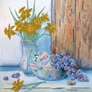 Рисунок на ткани для вышивки бисером Нарциссы и виноград
