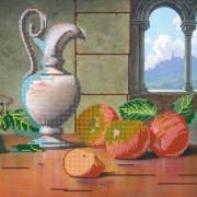 Рисунок на ткани для вышивки бисером Спелые яблоки
