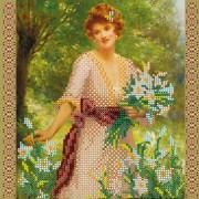 Рисунок на ткани для вышивки бисером Прекрасная Лилия