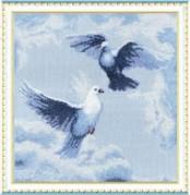 Набор для вышивки крестом Голуби