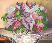 Рисунок на атласе для вышивки бисером Майская сирень