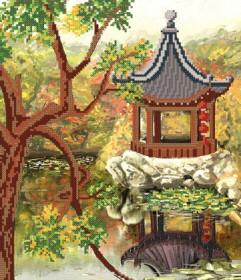 Рисунок на атласе для вышивки бисером Восточное спокойствие Марiчка (Маричка) РКП-160 - 88.00грн.