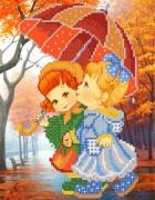Рисунок на ткани для вышивки бисером Осенний дождик