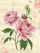 Рисунок на ткани для вышивки бисером Винтаж. Розовые розы