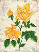 Рисунок на ткани для вышивки бисером Винтаж. Жёлтые розы
