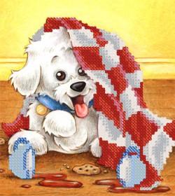 Рисунок на ткани для вышивки бисером Забавный щенок Марiчка (Маричка) РКП-5-021 - 40.00грн.