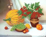 Рисунок на ткани для вышивки бисером Осенний натюрморт