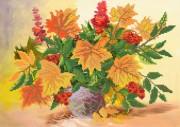 Рисунок на ткани для вышивки бисером Осенний букет