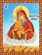 Рисунок на ткани для вышивки бисером Почаевская икона Божьей матери