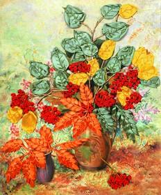 Набор для вышивки лентами Осенняя рябина Марiчка (Маричка) НЛ-3007 - 160.00грн.
