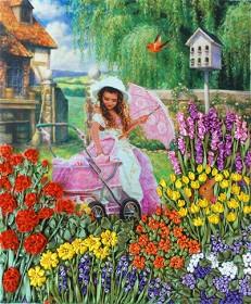 Набор для вышивки лентами Уютный садик Марiчка (Маричка) НЛ-3008 - 160.00грн.