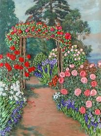 Набор для вышивки лентами Арка в розах Марiчка (Маричка) НЛ-3009 - 163.00грн.