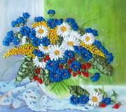 Набор для вышивки лентами Полевые цветы на окне