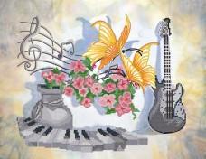 Рисунок на ткани для вышивки бисером Музыкальный натюрморт Марiчка (Маричка) РКП-2-002