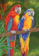 Рисунок на ткани для вышивки бисером Яркие птицы