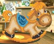 Рисунок на ткани для вышивки бисером Моя лошадка