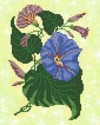 Рисунок на ткани для вышивки бисером Колокольчики