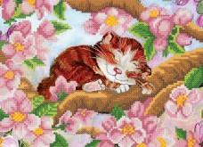 Рисунок на ткани для вышивки бисером Весенний котенок Марiчка (Маричка) РКП-4-018