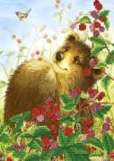 Рисунок на ткани для вышивки бисером Мишка и малина