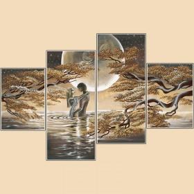 Рисунок на ткани для вышивки бисером (4 части) Лунный свет Марiчка (Маричка) РКП-1003 - 380.00грн.