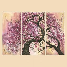 Рисунок на ткани для вышивки бисером (3 части) Сакура Марiчка (Маричка) РКП-1004 - 380.00грн.