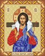 Рисунок на ткани для вышивки бисером Добрый Пастырь