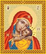 Рисунок на ткани для вышивки бисером Корсунская икона Божьей Матери