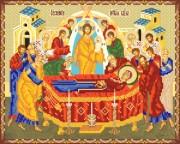 Рисунок на ткани для вышивки бисером Успение Пресвятой Богородицы