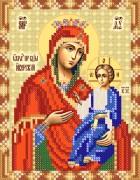 Рисунок на ткани для вышивки бисером Иверская икона Божьей Матери