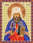 Рисунок на ткани для вышивки бисером Св. Вениамин Потроградский
