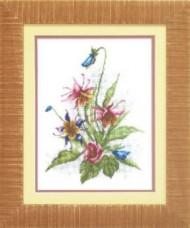 Набор для вышивки крестом Цветы Чарiвна мить (Чаривна мить) А114