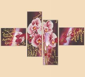 Рисунок на ткани для вышивки бисером Дикая орхидея, полиптих и 4 частей Марiчка (Маричка) РКП-1007 - 380.00грн.