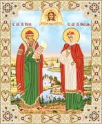 Рисунок на ткани для вышивки бисером Пётр и Февронья