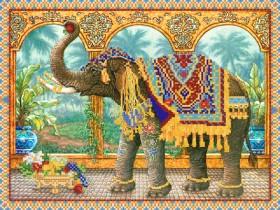 Рисунок на ткани для вышивки бисером Индийский слон, , 92.00грн., РКП-195, Марiчка (Маричка), Наборы и схемы для вышивки бисером и нитками Восток