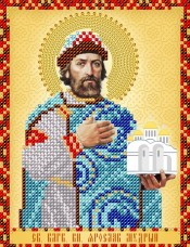 Схема для вышивки бисером на атласе  Св. Блгв. Князь Ярослав Мудрый А-строчка АС5-015