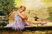 Рисунок на ткани для вышивки бисером Юная балерина