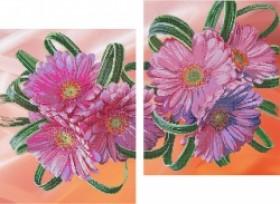 Рисунок на габардине для вышивки бисером Герберы (диптих) Картины бисером S-086 - 330.00грн.