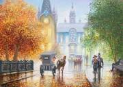 Рисунок на атласе для вышивки бисером Осенний проспект