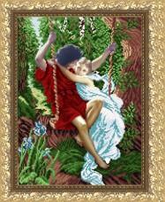 Рисунок на габардине для вышивки бисером Влюбленные на качелях Art Solo VKA3051