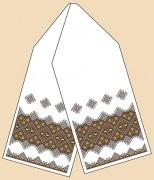 Рисунок на габардине для вышивки бисером Рушник под каравай