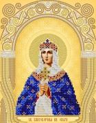 Рисунок на атласе для вышивки бисером Св. Блгв. Княгиня Ольга