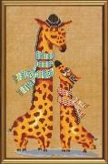 Набор для вышивки в смешанной технике Жирафики