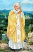 Схема вышивки бисером на габардине Папа Римский Иоанн Павел II