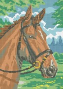 Рисунок на габардине для вышивки бисером Мустанг